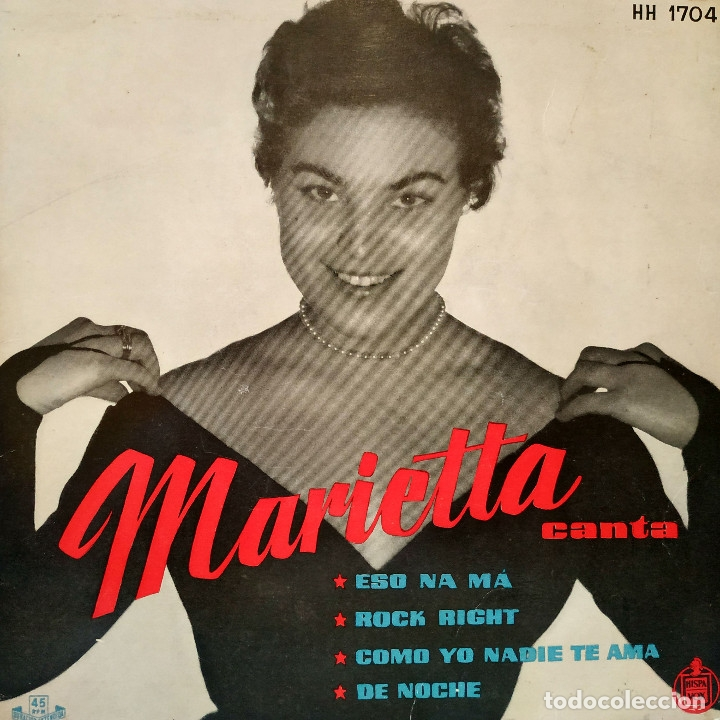 MARIETTA CANTA ACOMPAÑADA POR GREG SEGURA Y SU ORQUESTA - ESO NA MA + 3 - EP HISPAVOX - TRICENTRO (Música - Discos de Vinilo - EPs - Pop - Rock Extranjero de los 50 y 60)