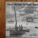 Discos de vinilo: ORFEON MURCIANO FERNÁNDEZ CABALLERO - HABANERA DIVINA + YO TE DIRE + TORREVIEJA + TU . Lote 158206478