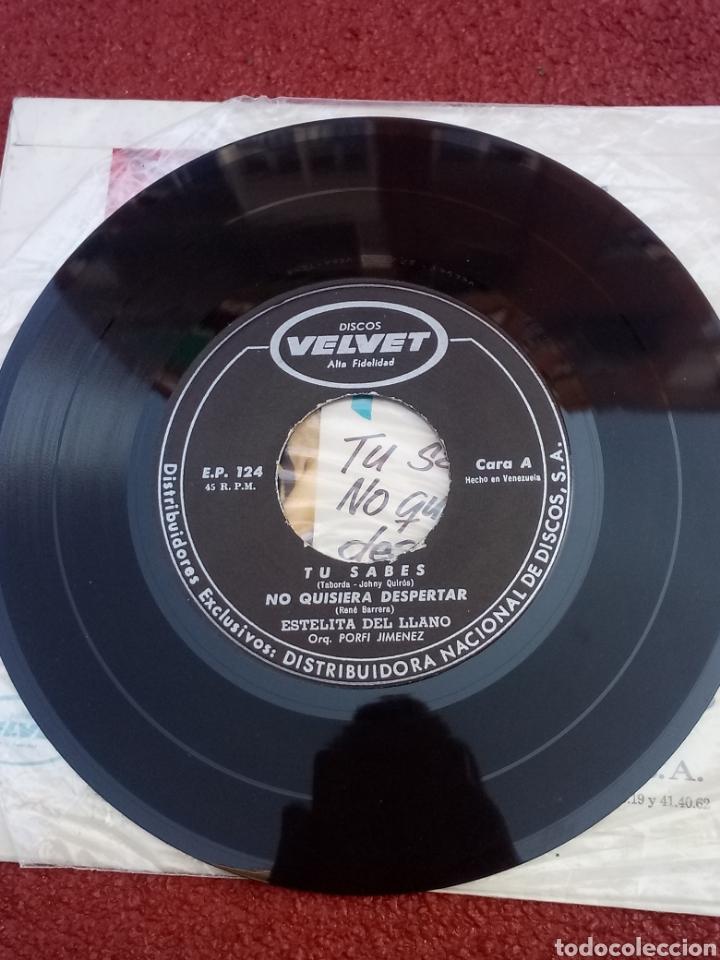 Discos de vinilo: Estelita del Llano Tú Sabes EP 1963 - Foto 3 - 158209140