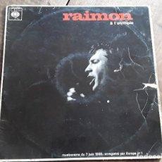 Discos de vinilo: RAIMON, À L'OLYMPIA. Lote 158228666