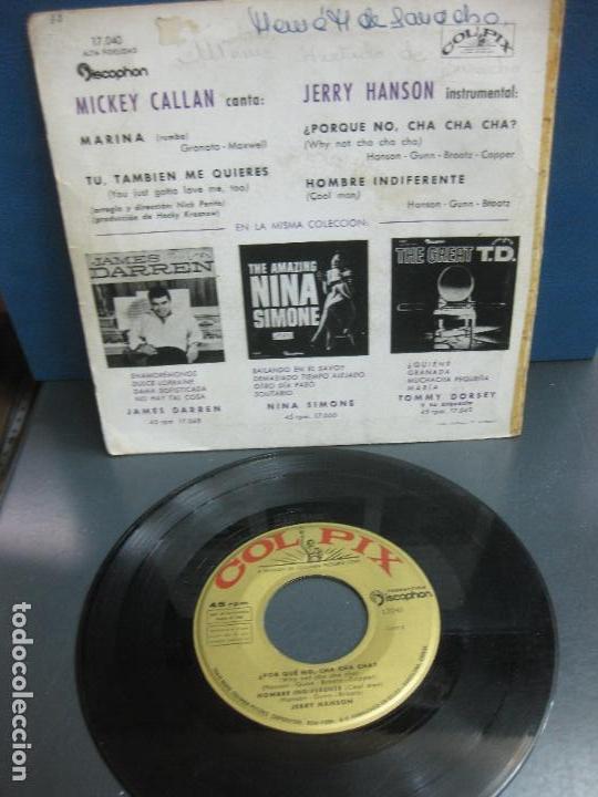 Discos de vinilo: JERRY HANSON. ¿ POR QUE CHA-CHA-CHA ? . HOMBRE INDIFERENTE. DISCOPHON 17.040. 1960. - Foto 2 - 158230450