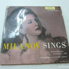 Discos de vinilo: ZINKA MILANOV - MILANOV SINGS - LA FORZA DEL DESTINO, AIDA, LA GIOCONDA - DOBLE EP - N. Lote 158231038