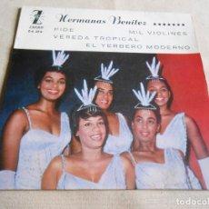 Discos de vinil: HERMANAS BENITEZ, EP, PIDE + 3, AÑO 1961. Lote 158262954