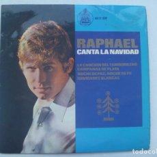 Discos de vinilo: SINGLE DE RAPHAEL , CANTA A LA NAVIDAD : EL TAMORILERO, ETC . DE HISPA VOX , 1965. Lote 158277682