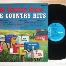 Discos de vinilo: VARIOS - THE COUNTRY STARS, THE COUNTRY HITS - EDDY ARNOLD, CHET ATKINS, HANK SNOW... LP UK 1969 -. Lote 158291058
