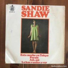 Discos de vinilo: SANDIE SHAW - TONIGHT IN TOKYO + 3 - EP HISPAVOX 1967 . Lote 158359226