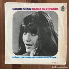 Discos de vinilo: SANDIE SHAW - MAÑANA + 3 - EP HISPAVOX 1966 - EN ESPAÑOL . Lote 158359474