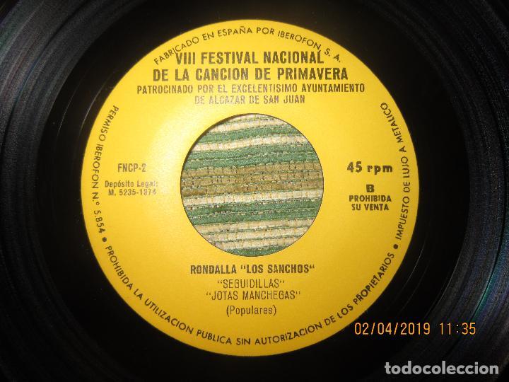 Discos de vinilo: VII FESTIVAL NACIONAL DE LA CANCION DE PRIMAVERA EP - ORIGINAL ESPAÑOL 1974 PROMOCIONAL - - Foto 4 - 158391938