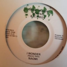 Discos de vinilo: NAOMI I WONDER / FIRST THERE WAS A LOVE 80'S POP ORIGINAL USA MUY RARO VG+. Lote 158392158