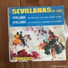 Discos de vinilo: SEVILLANAS DE BAILE - EP BELTER 1966. Lote 158393690