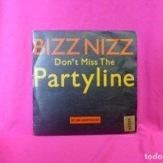 Discos de vinilo: BIZZ NIZZ -- DON'T MISS THE PARTYLINE, PROMOCIONAL DE UNA CARA, SPITFIRE MUSIC, 1990.. Lote 158394626
