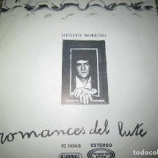 Discos de vinilo: BENITO MORENO - ROMANCES DEL LUTE SINGLE - ORIGINAL ESPAÑOL - MOVIEPLAY/GONG RECORDS 1979 MUY NUEVO5. Lote 158402106
