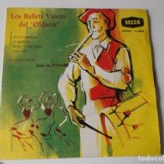 Discos de vinilo: LOS BALLETS VASCOS DEL OLDARRA /-ATXIA MOTXIA / ALDAPEKO / ATZO TTUN-TTUN / LOA LOA 1966-N. Lote 158412422