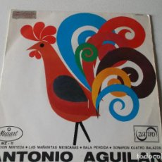 Discos de vinilo: ANTONIO AGUILAR EP ZAFIRO 1967 CANCION MIXTECA/ BALA PERDIDA/ SONARON 4 BALAZOS +1 RANCHERAS. Lote 158413862