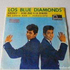 Discos de vinilo: LOS BLUE DIAMONDS - SIBONEY + 3 - DOS CANCIONES THE BEATLES - EP 1965. Lote 158415998