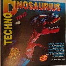 Discos de vinilo: TECHNO DINOSAURIUS - 1993 BLANCO Y NEGRO DOBLE LP. Lote 158419806