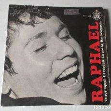 Discos de vinilo: RAPHAEL, LA NOCHE, ES VERDAD, HASTA VENECIA, YO SOY AQUEL EP VINILO HISPAVOX AÑO 1966. Lote 158420206