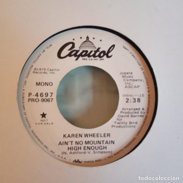 KAREN WHEELER AIN'T NO MOUNTAIN HIGH ENOUGH COUNTRY PROMO ORIGINAL USA 1979 NM (Música - Discos - Singles Vinilo - Country y Folk)