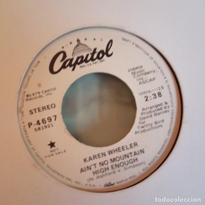 Discos de vinilo: KAREN WHEELER AIN'T NO MOUNTAIN HIGH ENOUGH COUNTRY PROMO ORIGINAL USA 1979 NM - Foto 2 - 158420578