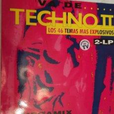 Discos de vinilo: VA DE TECHNO 2 - LOS 46 TEMAS MAS EXPLOSIVOS - 1993 ARCADE DOBLE LP. Lote 158422478