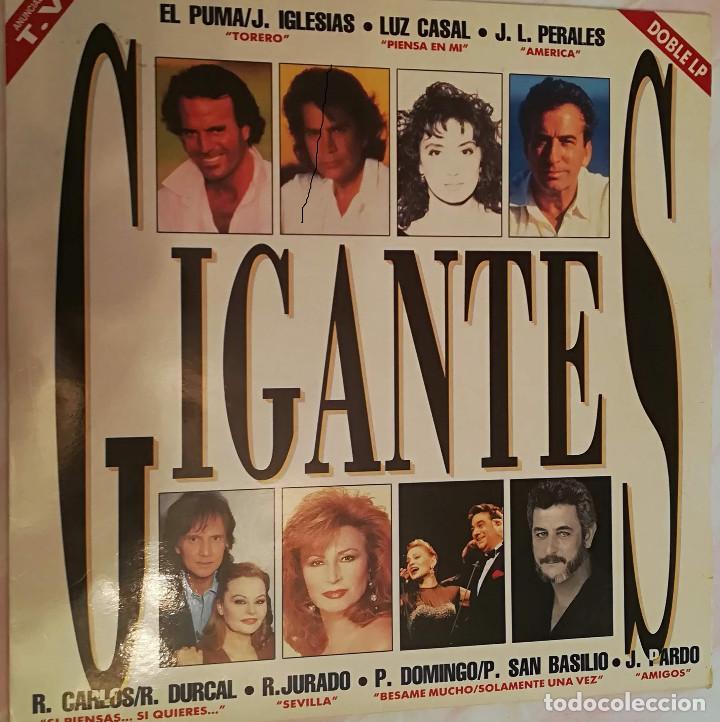 GIGANTES - DOBLE LP VARIOS ARTISTAS 1992 SONY MUSIC (Música - Discos - LP Vinilo - Solistas Españoles de los 70 a la actualidad)