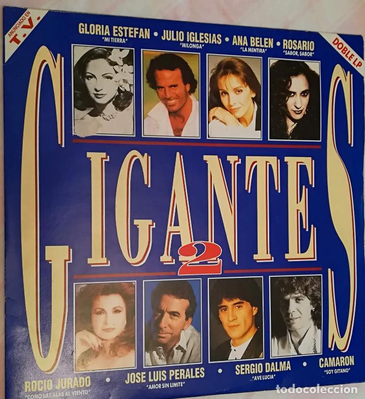 GIGANTES 2 - DOBLE LP VARIOS ARTISTAS 1993 SONY MUSIC (Música - Discos - LP Vinilo - Solistas Españoles de los 70 a la actualidad)