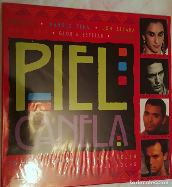 PIEL CANELA - VARIOS ARTISTAS - DOBLE LP - 1993 EPIC- SONY MUSIC (Música - Discos - LP Vinilo - Solistas Españoles de los 70 a la actualidad)