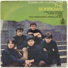 Discos de vinilo: THE SORROWS / TOMA TU CORAZON / EP 45 RPM / HISPAVOX SPAIN / SOLO PORTADA. Lote 158427038