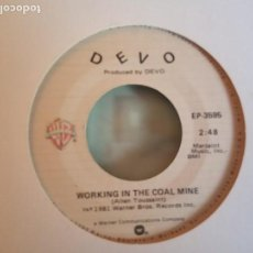Discos de vinilo: DEVO WORKING IN THE COAL MINE NEW WAVE ORIGINAL USA 1981 NM. Lote 158427642