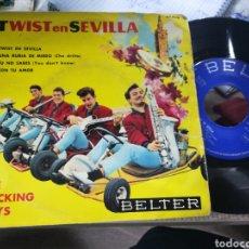 Discos de vinilo: THE ROCKING BOYS EP TWIST EN SEVILLA + 3 1962 ESCUCHADO. Lote 158453330