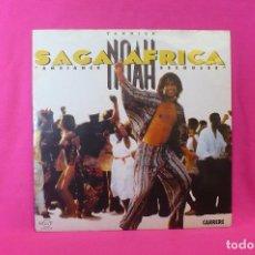 Discos de vinilo: YANNICK NOAH SAGA AFRICA / NIGHT OF BLUES, CARRERE, 1991.. Lote 158462554