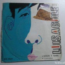 Discos de vinilo: LUIS AGUILE-MIGUEL E ISABEL + PERDONA SINGLE VINILO 1966 SPAIN. Lote 158464570
