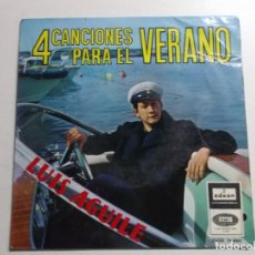 Discos de vinilo: LUIS AGUILE-EN VERANO + UN BESO ES POCA COSA + HE NACIDO PARA TI + POR EL CAMINO DE MEJICO EP. Lote 158465482