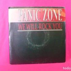 Discos de vinilo: WE WILL ROCK YOU -- PANIC ZONE, PROMOCIONAL DE UNA SOLA CARA, B. U. S., 1991. . Lote 158466362