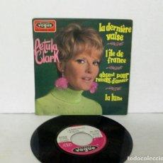 Discos de vinilo: PETULA CLARK - LA DERNIERE VALSE / L'LLE DE FRANCE + 2 - EP - VOGUE S/F FRANCE EPL 8584. Lote 158502902