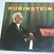 Discos de vinilo: RACHMANINOFF / LISZT - RUBINSTEIN - FRITZ REINER, ORQUESTA SINFÓNICA DE CHICAGO / A. WALLENSTEIN. Lote 158508746