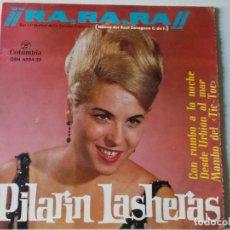 Discos de vinilo: PILARIN LASHERAS CHICA YE-YE ESPAÑOLA EP 1964 COLUMBIA 653435 TRIANGULO RA-RA-RA HIMNO REAL ZARAGOZA. Lote 158521534