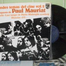 Discos de vinilo: PAUL MAURIAT LP GRANDES TEMAS DEL CINE VOL 2 PHILIPS 1976 COMO NUEVO¡¡ PEPETO. Lote 158554618
