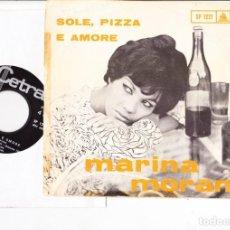 Discos de vinilo: MARINA MORAN SOLE PIZZA & AMORE /CHE TIPO SEI CETRA ITALY SANREMO 64. Lote 158569514