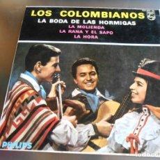 Discos de vinilo: COLOMBIANOS, LOS, EP, LA BODA SE LAS HORMIGAS + 3, AÑO 1964. Lote 158569690