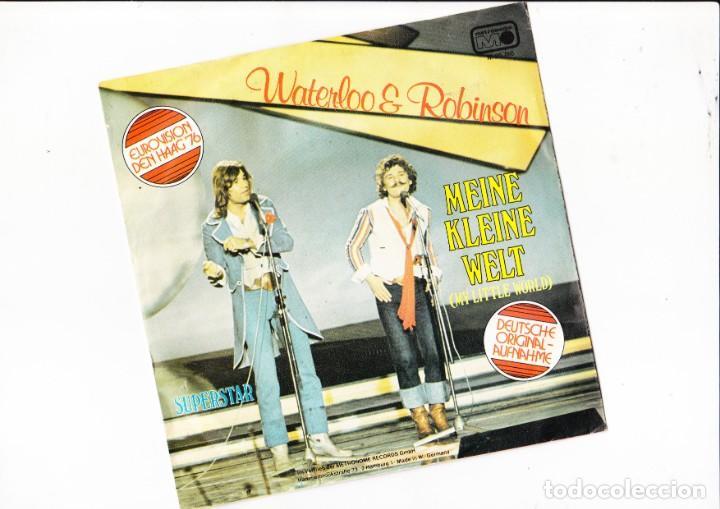 WATERLOO & ROBISON MEINE KLEINE WELT EUROVISION DEN HAAH 76 (Música - Discos de Vinilo - Maxi Singles - Festival de Eurovisión)