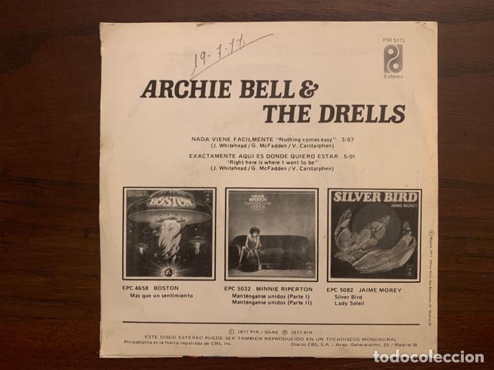 Discos de vinilo: Archie Bell & The Drells ?– Nothing Comes Easy = Nada Viene Facilmente Sello: Philadelphia - Foto 2 - 158603406