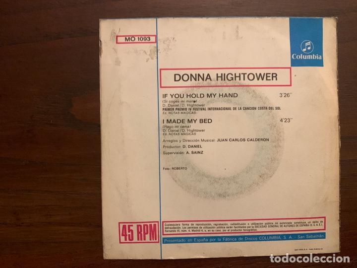 Discos de vinilo: Donna Hightower ?– If You Hold My Hand Sello: Columbia ?– MO 1093 Formato: Vinyl, 7 , 45 RPM, Single - Foto 2 - 158603694