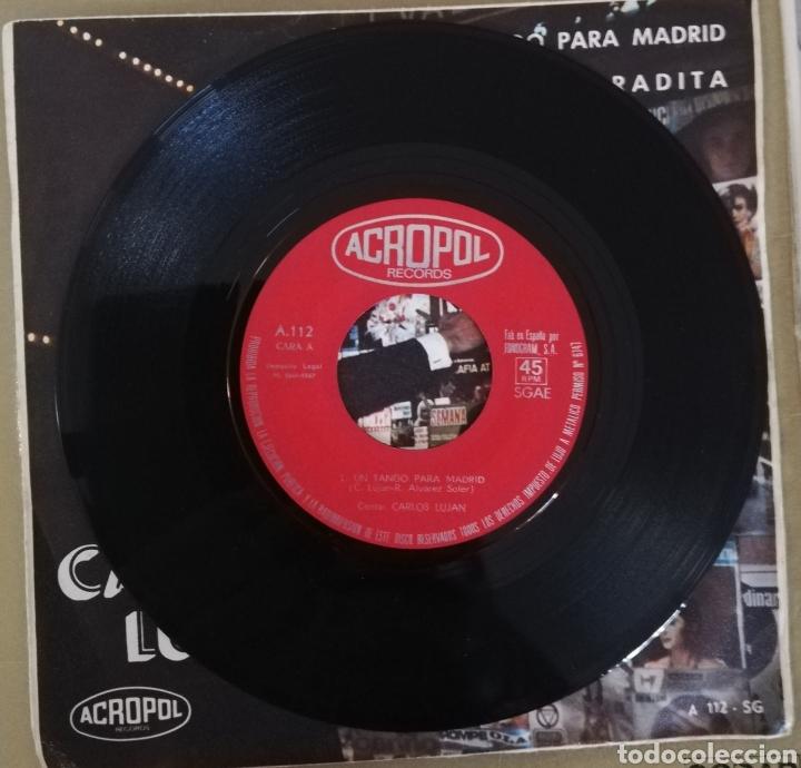 Discos de vinilo: Carlos Luján - Un tango para Madrid - Foto 2 - 158616940