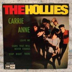 Discos de vinilo: THE HOLLIES ?– CARRIE ANNE + 3 RARO EP DE VINILO EDICIÓN ORIGINAL SPAIN DEL AÑO 1967 MUY BUEN ESTADO. Lote 158622174