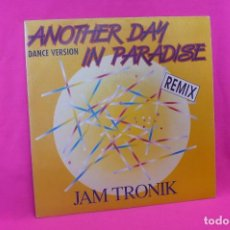 Discos de vinilo: JAM TRONIK -- ANOTHER DAY IN PARADISE / ANOTHER DAY IN PARADISE THE SIDNEY MIX, BLANCO Y NEGRO, 1990. Lote 158627230
