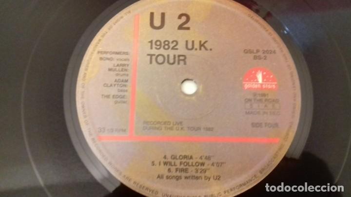 Discos de vinilo: U2 1982 U.K. TOUR RARA EDICIÓN ITALIANA 1991 NO OFICIAL - Foto 2 - 161064585