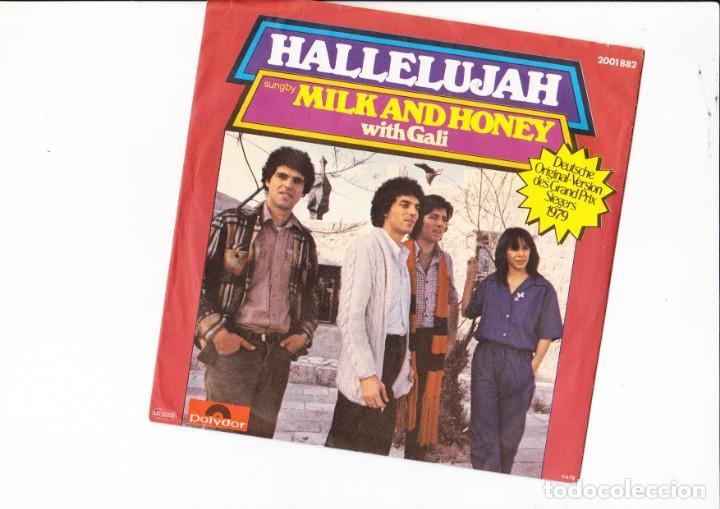 HALLELUJAH MILK AND HONEY WITH GALI SIEGERS 1979 (Música - Discos de Vinilo - Maxi Singles - Festival de Eurovisión)