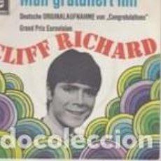 Discos de vinilo: CLIFF RICHARD MAN GRATULIERT DIR (CONGRATULATIONS) GERMAN VERSION . Lote 158655758