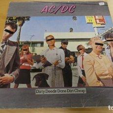 Dischi in vinile: LP DISCO AC DC . DIRTY DEEDS DONE DIRT CHEAP . Lote 158662850